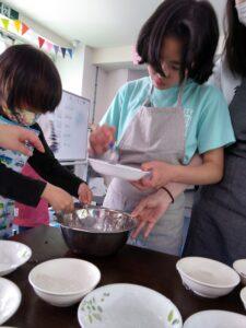 わらび餅作り